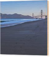 Golden Gate Bridge And Pacific Ocean Early Morning Wood Print