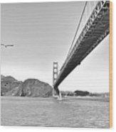 Golden Gate Bridge Wood Print by John Scharle