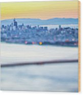 Golden Gate Bridge San Francisco California West Coast Sunrise Wood Print