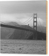 Golden Gate Wood Print by Ofelia  Arreola