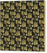 Golden Tropics Pattern Wood Print