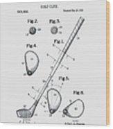 Golf Club Patent 1910 Wood Print