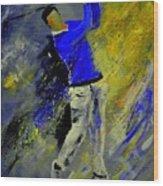Golfplayer Wood Print