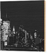 Good Night New Yorker Wood Print