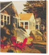 Goose Creek Beach Cottages Wood Print