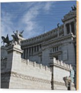 Government Building Rome Wood Print