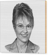 Governor Sarah Palin Wood Print