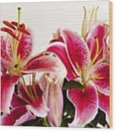 Graceful Lily Series 10 Wood Print