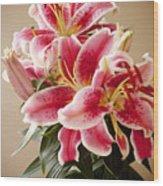 Graceful Lily Series 12 Wood Print