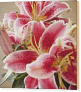 Graceful Lily Series 13 Wood Print