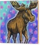 Graffiti Moose Wood Print