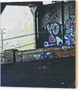 Graffiti Under The Bridge Wood Print