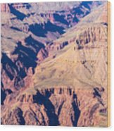 Grand Canyon Sunny Day With Blue Sky Wood Print