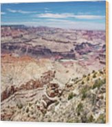 Grand Canyon View From The South Rim, Arizona Wood Print