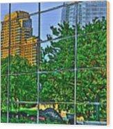 Grand Rapids Mi On Glass-17 Wood Print