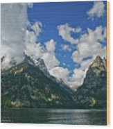 Grand Tetons Wood Print by Brent Parks