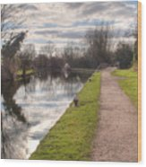 Grand Union Canal Rickmansworth Wood Print