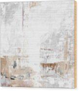 Gray Brown Abstract 12m3 Wood Print