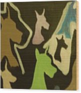 Great Danes Wood Print