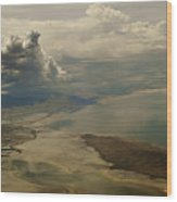 Great Salt Lake From The Air  Wood Print
