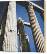 Greek Pillars Wood Print
