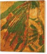Green  - Tile Wood Print
