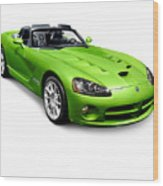 Green 2008 Dodge Viper Srt10 Roadster Wood Print
