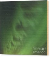 Green Aurora Borealis, Icelandic Sky Wood Print