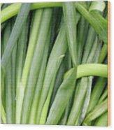 Green Onion Market Bergen Wood Print