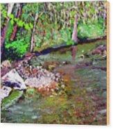 Greesy Creek Wood Print