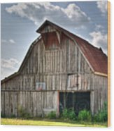 Grey Barn Wood Print by Douglas Barnett