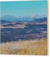 Grouse Mountain And Sangre De Cristo Wood Print