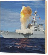 Guided Missile Destroyer Uss Hopper Wood Print