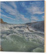 Gulfoss. Wood Print