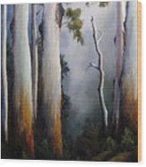 Gumtrees After The Rain Wood Print