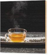 Gunpowder Green Tea In Glass Teapot Wood Print