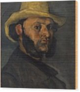 Gustave Boyer B 1840 In A Straw Hat Wood Print