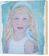 Gwyneth Little Earth Angel Of Happiness Wood Print by The Art With A Heart By Charlotte Phillips