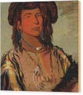 Ha-won-je-tah, One Horn, Head Chief Of The Miniconjou Tribe Wood Print