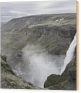 Haifoss Waterfall Iceland 1340 Wood Print