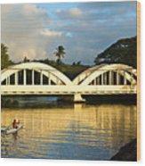 Haleiwa Bridge Wood Print by Paul Topp