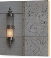 Half Lit Wall Sconce Wood Print