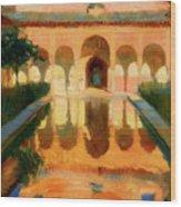 Hall Of The Ambassadors -  Alhambra Granada Wood Print