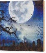 Halloween Horror Night Wood Print