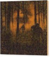 Halloween Horror Zombie Rampage Wood Print