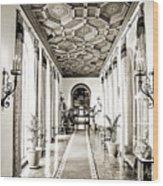 Hallway Of Elegance Wood Print