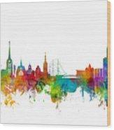 Halmstad Sweden Skyline Wood Print