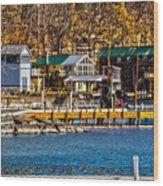 Hammondsport Docks Wood Print