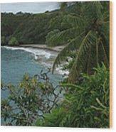 Hamoa Beach Maui Hawaii Wood Print
