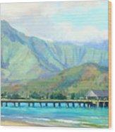 Hanalei Pier Wood Print